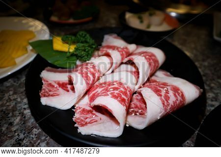 Beef Or Sliced Beef , Raw Beef Or Slided Pork