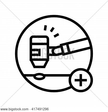 General Dermatology Clinic Line Icon Vector. General Dermatology Clinic Sign. Isolated Contour Symbo