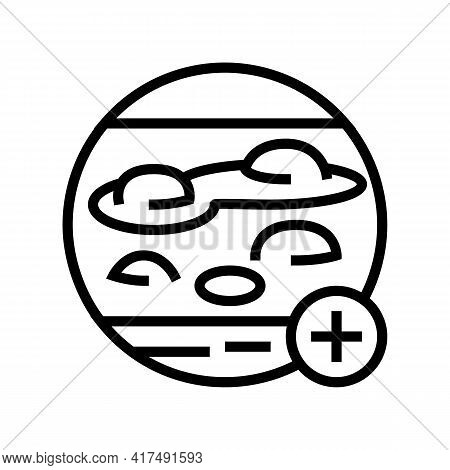 Blistering Disease Clinic Line Icon Vector. Blistering Disease Clinic Sign. Isolated Contour Symbol
