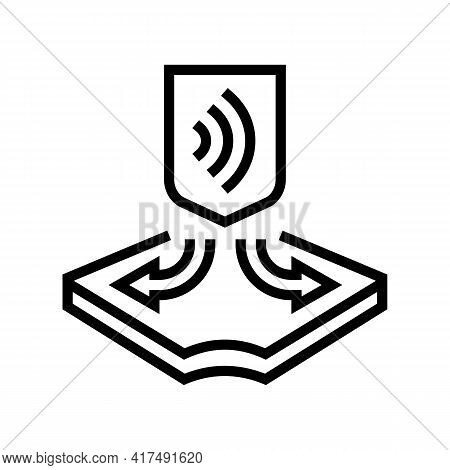 Stretched Fabrics Properties Line Icon Vector. Stretched Fabrics Properties Sign. Isolated Contour S