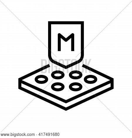 Membrane Fabrics Properties Line Icon Vector. Membrane Fabrics Properties Sign. Isolated Contour Sym