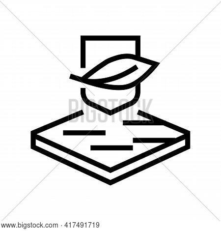 Soft Fabrics Properties Line Icon Vector. Soft Fabrics Properties Sign. Isolated Contour Symbol Blac