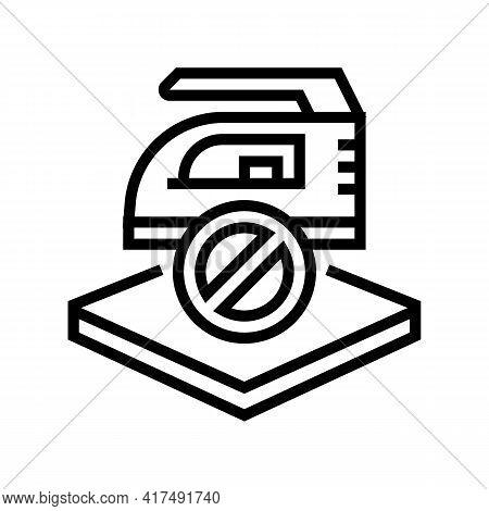Do Not Iron Fabrics Properties Line Icon Vector. Do Not Iron Fabrics Properties Sign. Isolated Conto
