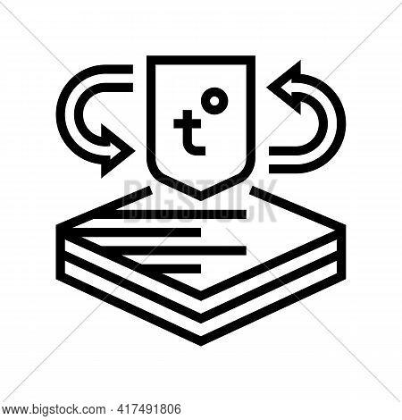 Thermo Fabrics Properties Line Icon Vector. Thermo Fabrics Properties Sign. Isolated Contour Symbol