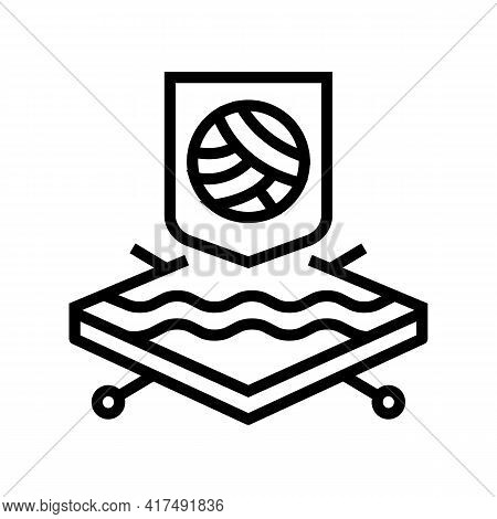 Wool Fabrics Properties Line Icon Vector. Wool Fabrics Properties Sign. Isolated Contour Symbol Blac