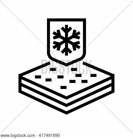 Winter Fabrics Properties Line Icon Vector. Winter Fabrics Properties Sign. Isolated Contour Symbol