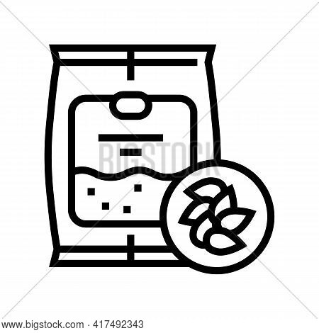 Seeds Gardening Line Icon Vector. Seeds Gardening Sign. Isolated Contour Symbol Black Illustration