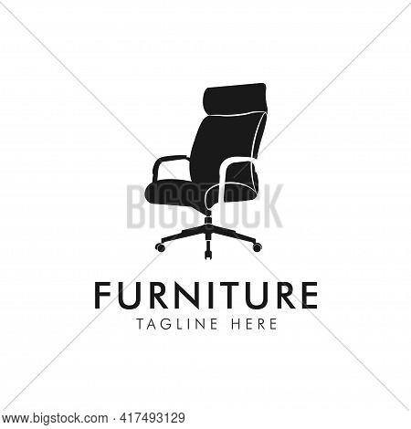 Chair. Office Chair Icon Or Logo Furniture. Vector Illustration