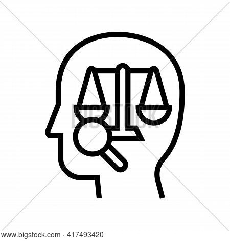 Right Law Dictionary Line Icon Vector. Right Law Dictionary Sign. Isolated Contour Symbol Black Illu