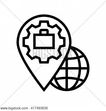 Legal Address Line Icon Vector. Legal Address Sign. Isolated Contour Symbol Black Illustration