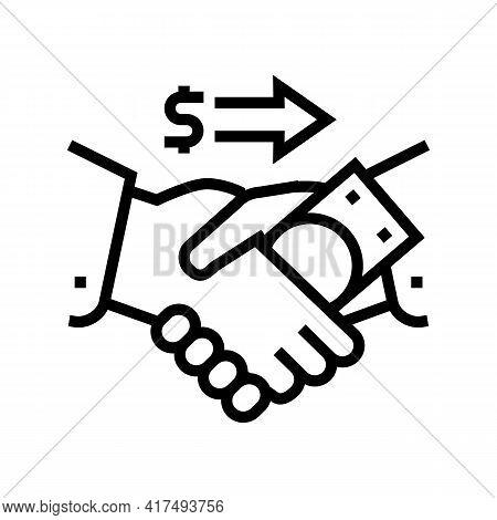 Corruption Law Dictionary Line Icon Vector. Corruption Law Dictionary Sign. Isolated Contour Symbol