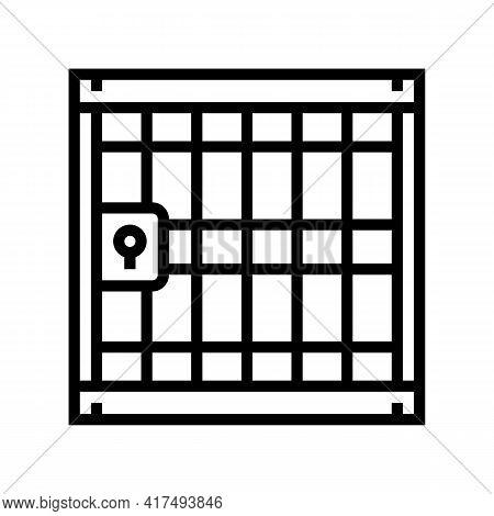 Prison Law Dictionary Line Icon Vector. Prison Law Dictionary Sign. Isolated Contour Symbol Black Il