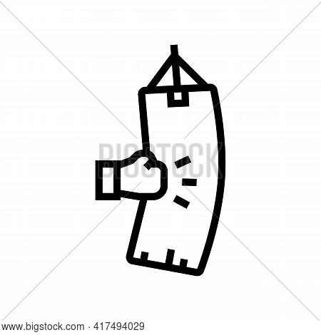 Boxing Mens Leisure Line Icon Vector. Boxing Mens Leisure Sign. Isolated Contour Symbol Black Illust