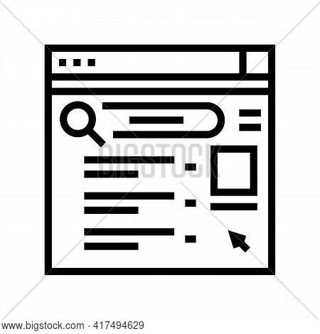 Internet Mens Leisure Line Icon Vector. Internet Mens Leisure Sign. Isolated Contour Symbol Black Il