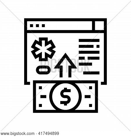 Donation For Refugee Line Icon Vector. Donation For Refugee Sign. Isolated Contour Symbol Black Illu