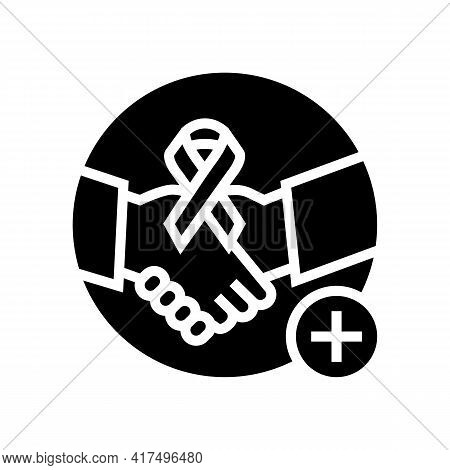 Supportive Dermato-oncology Program Glyph Icon Vector. Supportive Dermato-oncology Program Sign. Iso