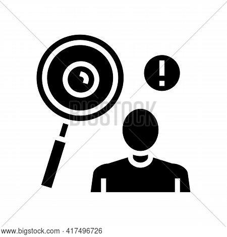 Surveillance Of Moles Glyph Icon Vector. Surveillance Of Moles Sign. Isolated Contour Symbol Black I