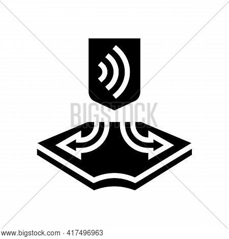 Stretched Fabrics Properties Glyph Icon Vector. Stretched Fabrics Properties Sign. Isolated Contour
