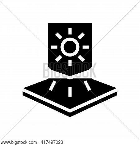 Warm Fabrics Properties Glyph Icon Vector. Warm Fabrics Properties Sign. Isolated Contour Symbol Bla