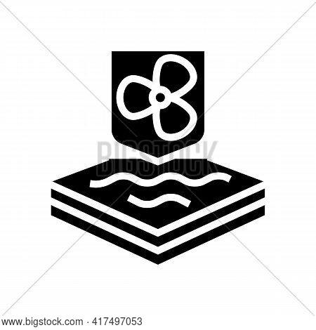 Cool Fabrics Properties Glyph Icon Vector. Cool Fabrics Properties Sign. Isolated Contour Symbol Bla