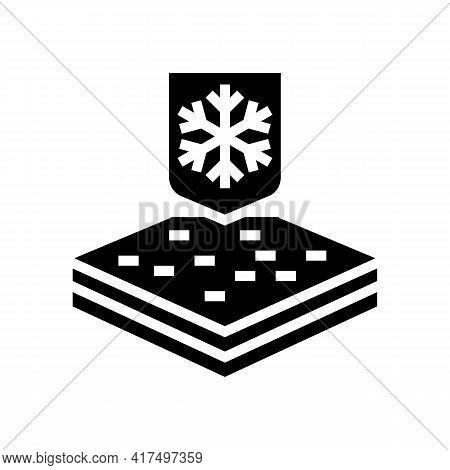 Winter Fabrics Properties Glyph Icon Vector. Winter Fabrics Properties Sign. Isolated Contour Symbol