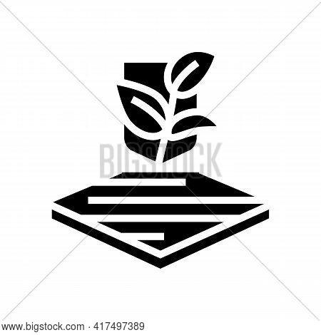 Eco Fabrics Properties Glyph Icon Vector. Eco Fabrics Properties Sign. Isolated Contour Symbol Black