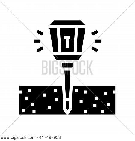 Sonic Repeller Gardening Glyph Icon Vector. Sonic Repeller Gardening Sign. Isolated Contour Symbol B