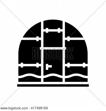 Polycarbonate Greenhouse Glyph Icon Vector. Polycarbonate Greenhouse Sign. Isolated Contour Symbol B