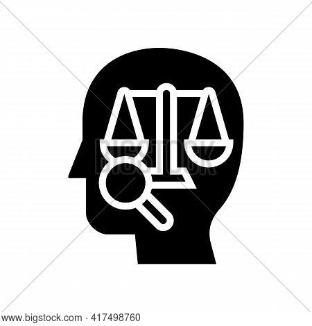 Right Law Dictionary Glyph Icon Vector. Right Law Dictionary Sign. Isolated Contour Symbol Black Ill