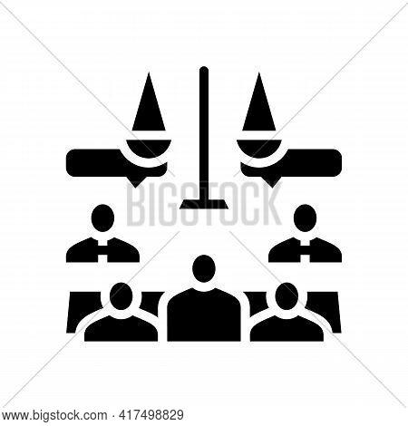 Arbitration Law Dictionary Glyph Icon Vector. Arbitration Law Dictionary Sign. Isolated Contour Symb