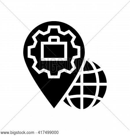 Legal Address Glyph Icon Vector. Legal Address Sign. Isolated Contour Symbol Black Illustration