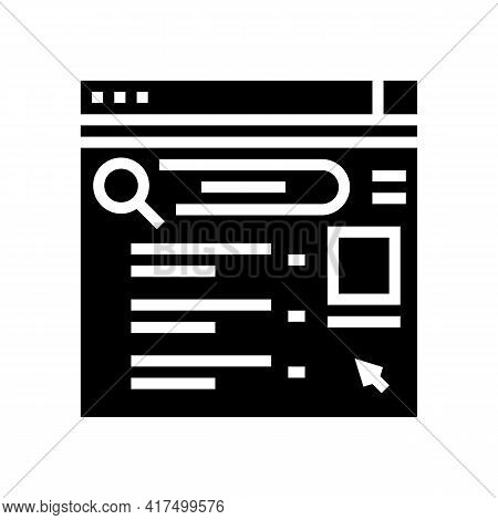Internet Mens Leisure Glyph Icon Vector. Internet Mens Leisure Sign. Isolated Contour Symbol Black I