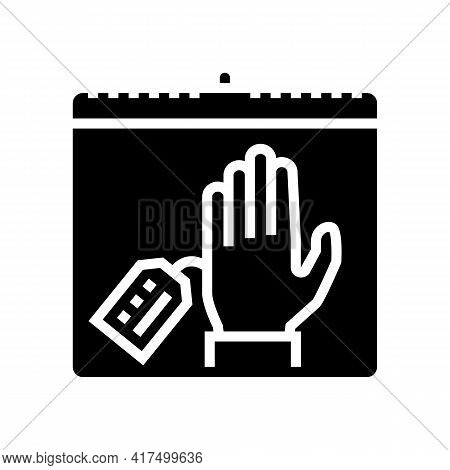 Date Of Illegal Refugee Glyph Icon Vector. Date Of Illegal Refugee Sign. Isolated Contour Symbol Bla