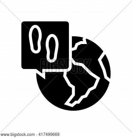 Worldwide Refugee Glyph Icon Vector. Worldwide Refugee Sign. Isolated Contour Symbol Black Illustrat