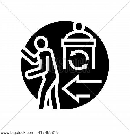Political Persecution Refugee Glyph Icon Vector. Political Persecution Refugee Sign. Isolated Contou