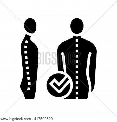 Correct Posture Glyph Icon Vector. Correct Posture Sign. Isolated Contour Symbol Black Illustration