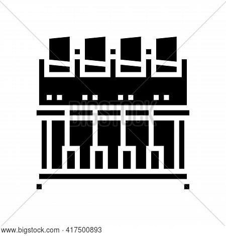 Industrial Embroidery Machine Glyph Icon Vector. Industrial Embroidery Machine Sign. Isolated Contou