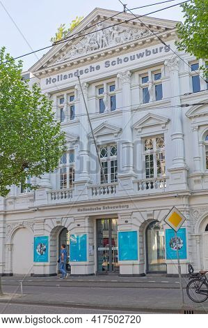 Amsterdam, Netherlands - May 14, 2018: Holocaust Memorial Dutch Theater In Jewish Cultural Quarter H