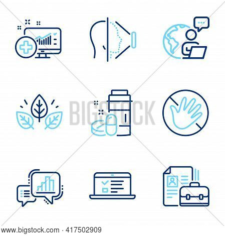 Science Icons Set. Included Icon As Web Lectures, Medical Analytics, Organic Tested Signs. Vacancy,