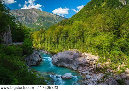Attractive Rafting And Kayaking Place In Europe. Admirable Recreation Place And Kayaking Destination