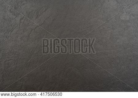 Black Wall Slate Texture Rough Background, Dark Concrete Floor Or Old Grunge Background, Black Rough