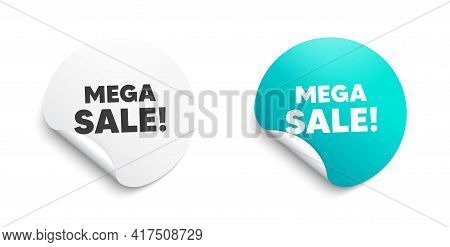 Mega Sale. Round Sticker With Offer Message. Special Offer Price Sign. Advertising Discounts Symbol.