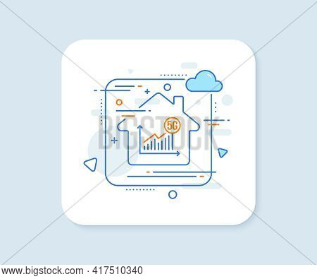 5g Statistics Line Icon. Abstract Vector Button. Wireless Technology Sign. Wifi Internet Graph Symbo