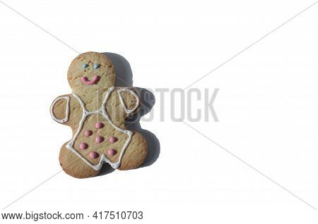 Figure Of A Smiling Cookie Man On A White Background Isolated Figure Of A Man Sweet Dessert Kopi Spa