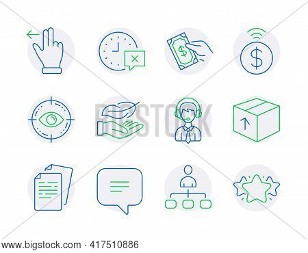 Business Icons Set. Included Icon As Time, Lightweight, Pay Money Signs. Management, Shipping Suppor