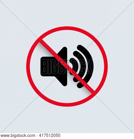 No Sound Icon. Mute Button Speaker. Volume Off Symbol. Vector Eps 10. Isolated On Background.