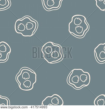 Seamless Background Dinosaur Track Fossil Gender Neutral Baby Pattern. Simple Whimsical Minimal Eart