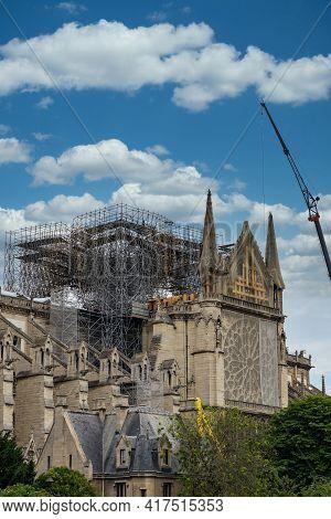 The Reconstruction Work Of Notre Dame De Paris After Fire