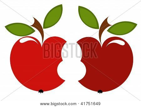Two Biten Apples