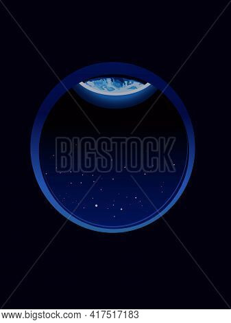 Vector Illustration Dedicated To Earth Day With The Image Of The Visible Edge Of The Planet Earth In